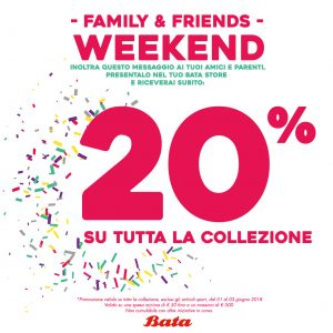 Promo Bata – Family & Friends Weekend