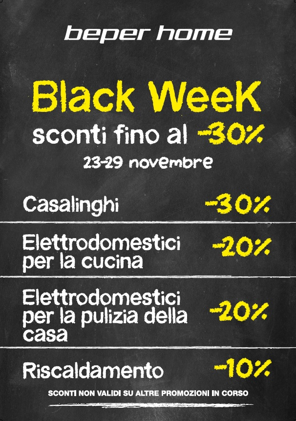 BLACK FRIDAY da BEPER HOME